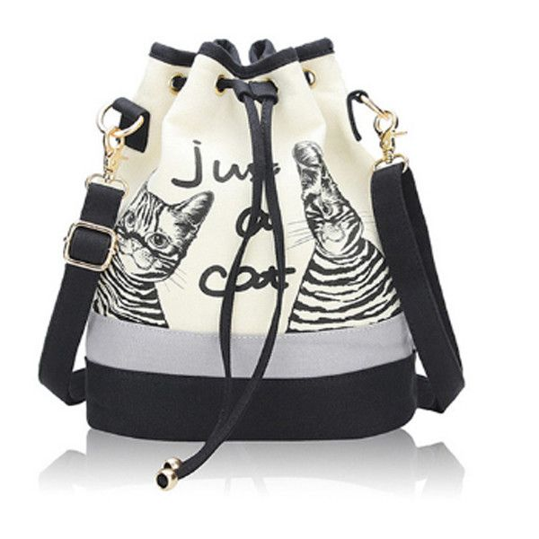Just A Cat Casual Drawstring Shoulder Bag – PawzOutlet