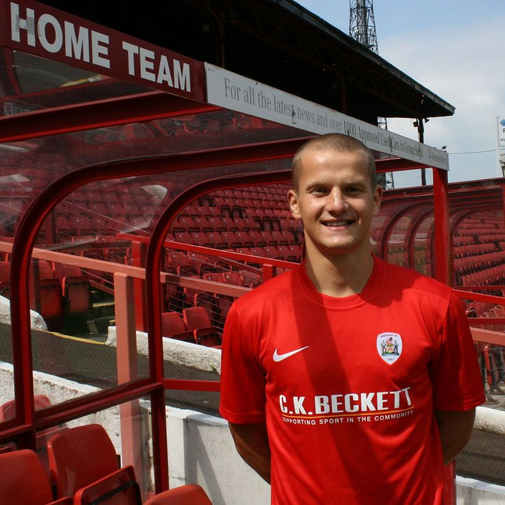 Tomasz Cywka wearing new Barnsley shirt