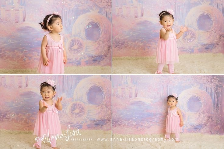 Children Photography | First Birthday | Cinderella | Pink and purple | Anna-Lisa Photography