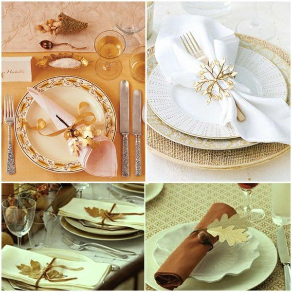 Golden Autumn oak leaf napkin