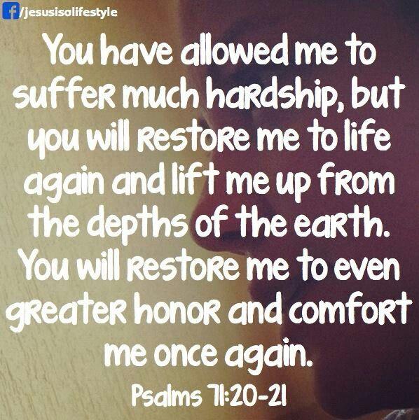 Psalm 71:20- 21