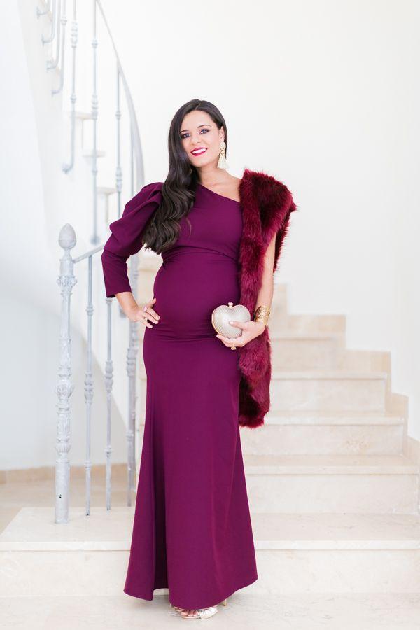 disponibilidad en el reino unido 5dcd3 45699 Look Invitada de invierno premamá Vestido/Dress ...