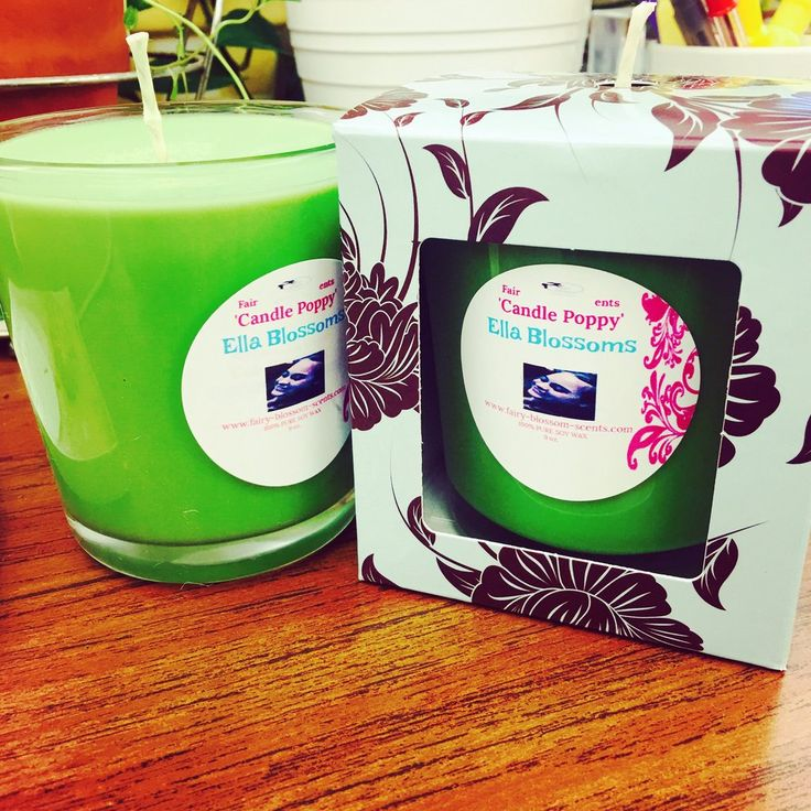 9 oz. 'Ella Blossoms' Candle Poppy Scented Soy Candle