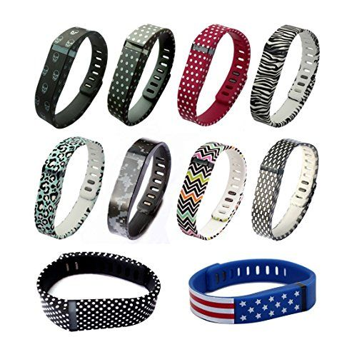 ECSEM 10pcs Large L Spots Replacement Band With Clasp for Fitbit FLEX Only No tracker Wireless Activity Bracelet Sport Wristband Fit Bit Flex Bracelet Sport Arm Band Armband Special Style bands * Click image for more details.