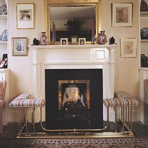 Caythorpe brass fireplace fender - Original Club Fenders Ltd., England
