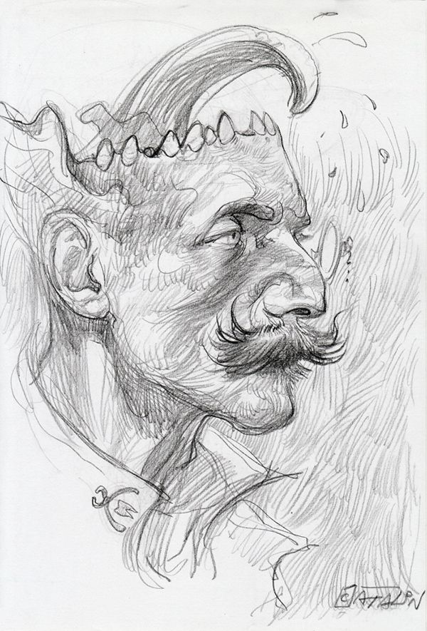 16th of October, The Dentist.                      #daily #drawing #portrait #Lartist