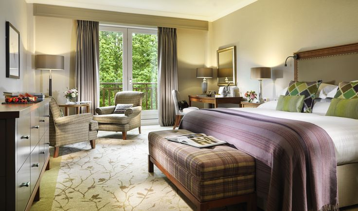 One of the newly designed guest rooms at Druids Glen Resort