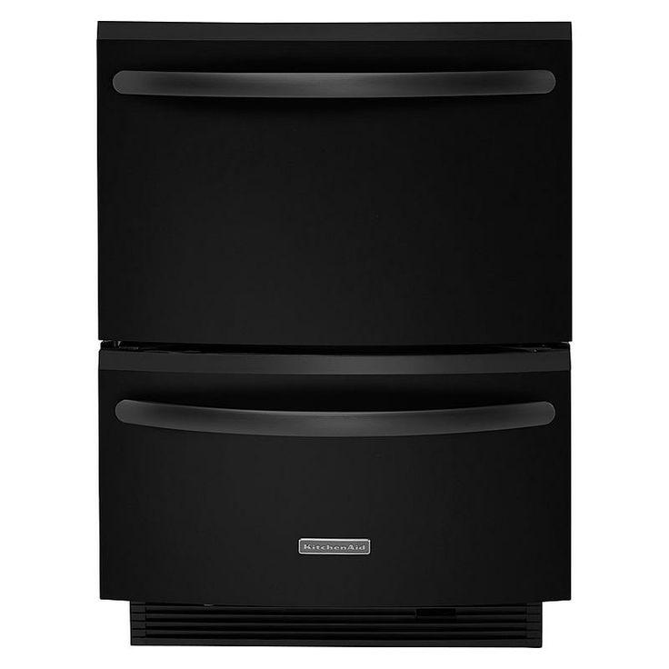Kitchenaid 24 Quot Double Drawer Dishwasher Black Sears