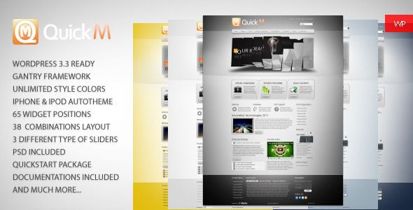 QuickM – WordPress Template is a powerful theme, which is suitable