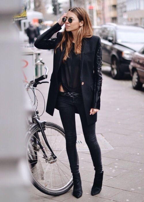 TheyAllHateUs | black on black layering | street style 2015