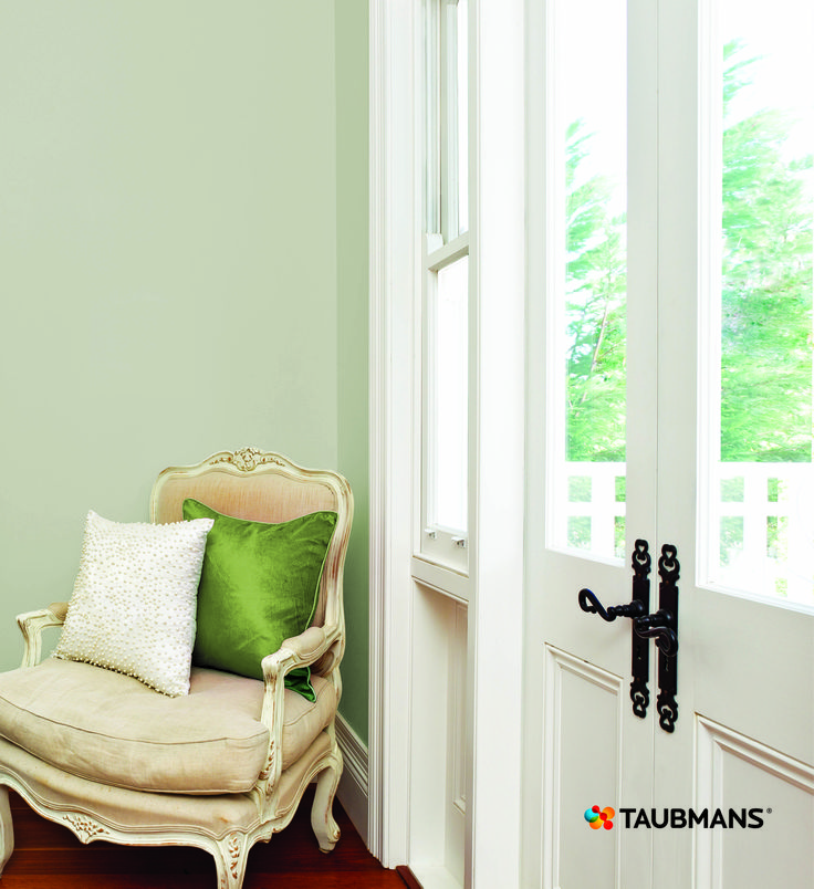With beautiful period or architectural features paint trim colours in Crisp White and off set with a deeper colour like Cloudy Bay to really make a feature feel modern. #Taubmans