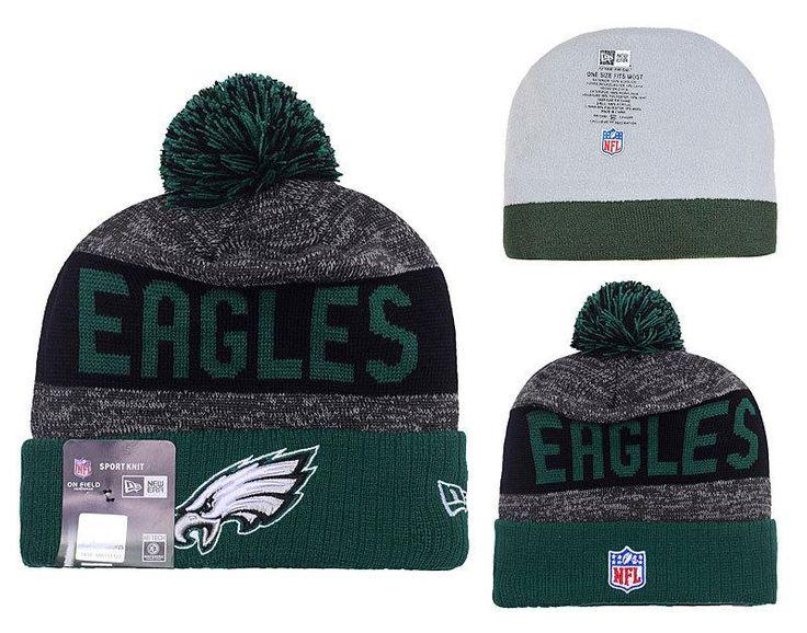 Men's / Women's Philadelphia Eagles New Era 2016 NFL Sideline Sport Knit  Pom ...