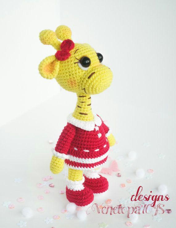 PATTERN Girl Giraffe crochet amigurumi от VenelopaTOYS на Etsy