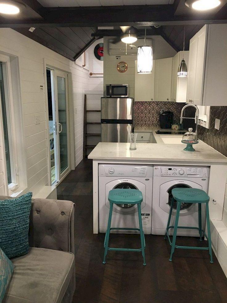 50 Beautiful Tiny House Bus Interior Design And Decorating