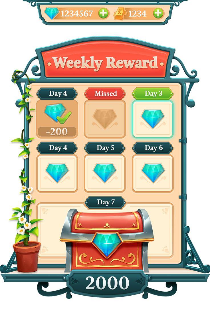 Weekly Rewards -  Game UI