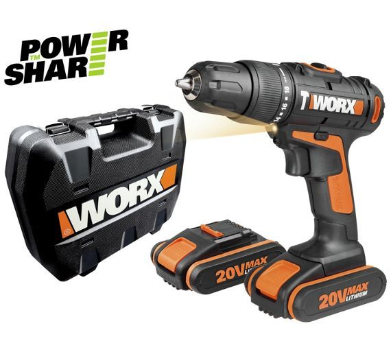 Buy Worx 20V Li-Ion Hammer Drill with 2 Batteries at Argos.co.uk, visit Argos.co.uk to shop online for Drills, DIY power tools, DIY tools and power tools, Home and garden