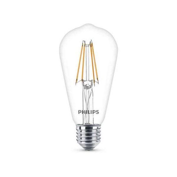 Bec LED Philips 6W E27 ST64 806LM lumina calda http://www.etbm.ro/becuri-led