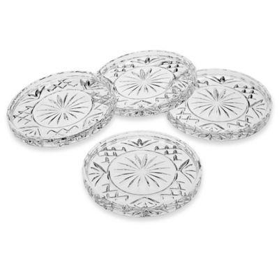 godinger dublin crystal coasters set of 4