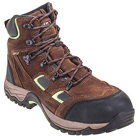 McRae Boots Men's Brown MR83326 Waterproof Steel Toe Hiking Boots