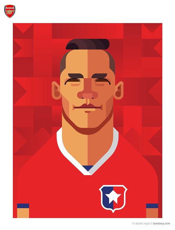 Alexis Sanchez // football art // by Daniel Nyari