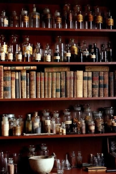 So many vials, so many books. Who do they belong to and what are they used for?