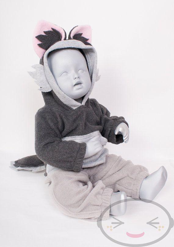 BABY & TODDLER Wolf Hoodie Costume Vest Jacket by lemonbrat