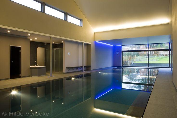 binnenzwembad, betonnen zwembad, zwembad, mozaiek zwembaden, overloopzwembad | De Mooiste Zwembaden