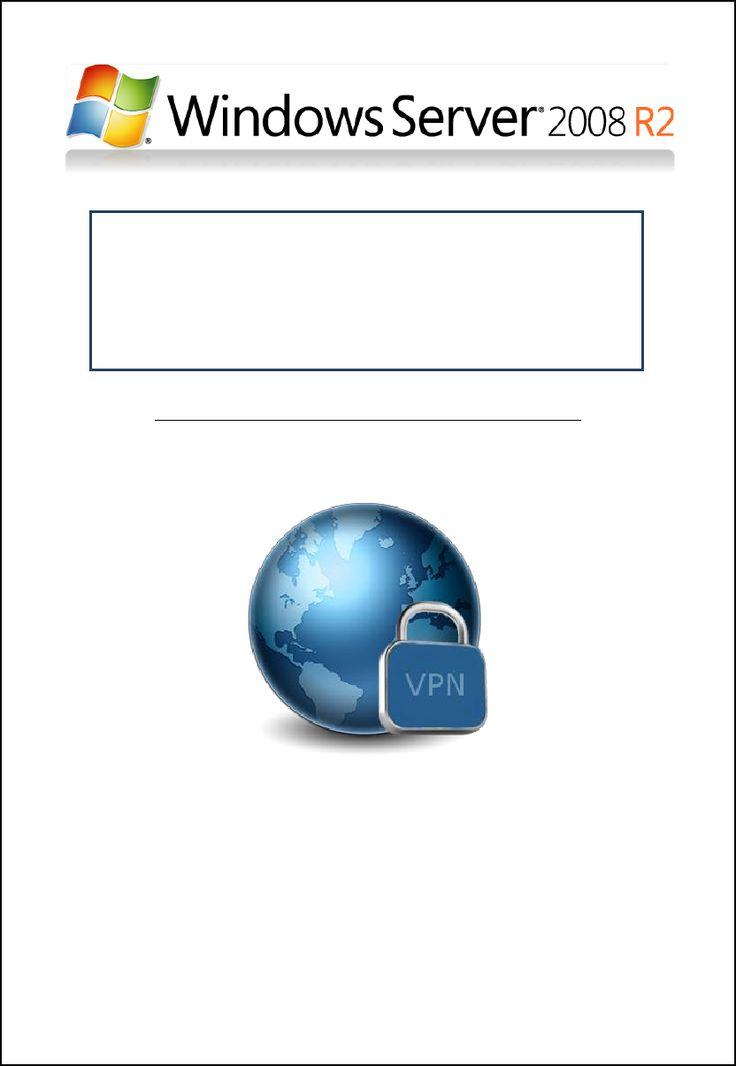 Tuto pour installation d'un VPN SSTP sous Windows Server 2008 R2