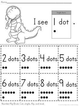 {FREEBIE!} NUMBERS 1-9 FLIP BOOK IN ENGLISH AND SPANISH - TeachersPayTeachers.com