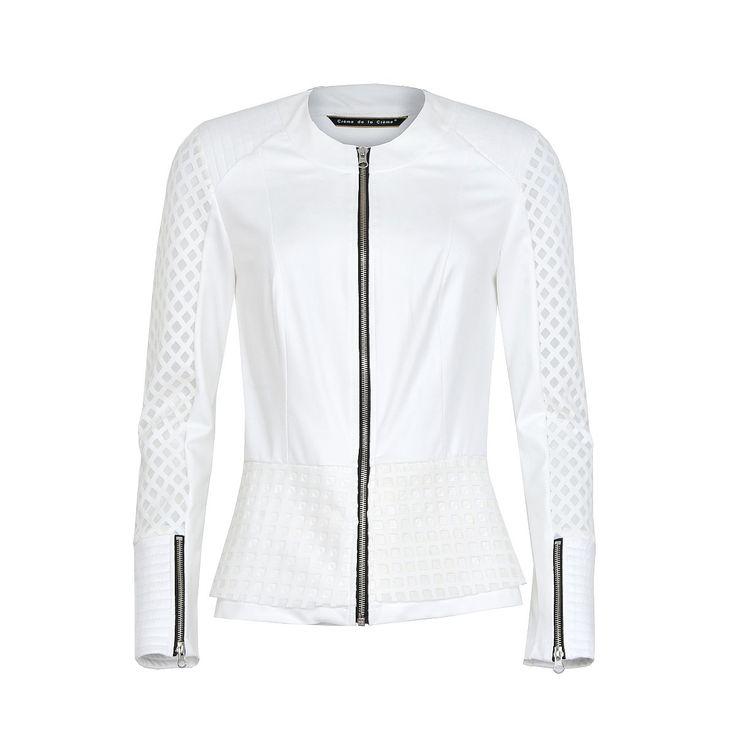 JAC 854 | Jacket peplum | Crème de la Crème