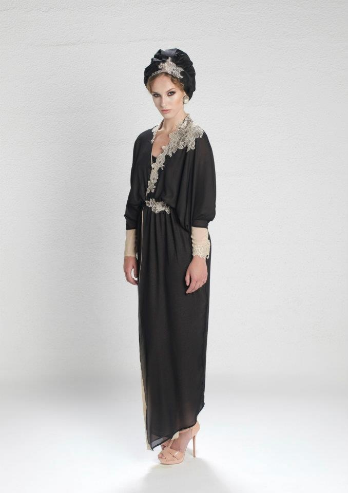 Malaak S/S 2012, #Abaya#haute#couture#luxury#lace#trim#design#arabia#arabian