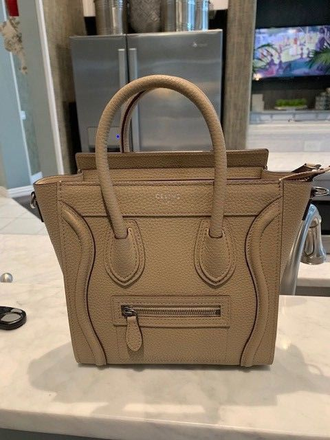 Wstrap Bag fashion Celine Nano Authentic 100 Luggage Dune clothing CwOYBp