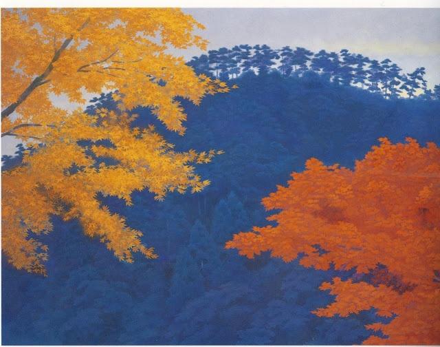Kaii Higashiyama (1908-1999)  Autumn Leaves (1986)