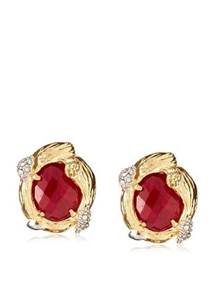 Indulgems Dyed Ruby Branch Setting Post Earrings