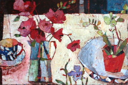 SALLY ANNE FITTER, Blue Cup and Orchid