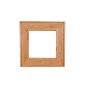 Vancouver Oak VA016 Square Mirror  www.easyfurn.co.uk