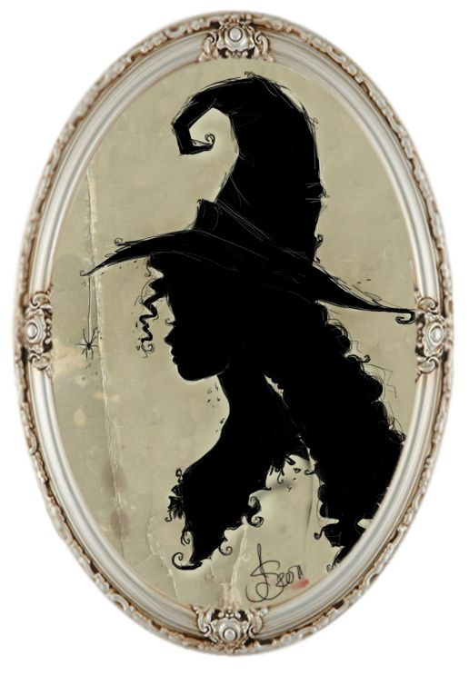 witch silhouette | silhouette of a witch by ~IdaBlack on deviantART