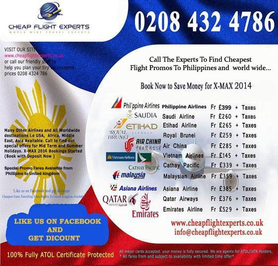 Cheapest Flight Tickets to Manila Call Experts on 0208 4324 786  ATOL Certificate Secured Bookings..