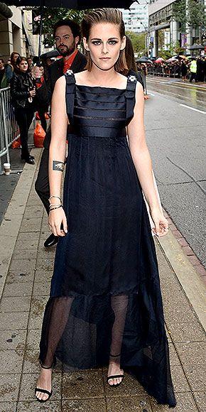 Toronto Film Festival 2015: Kristen Stewart in a black Chanel dress