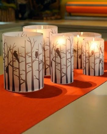 DIY Halloween Candleholders with Free Printable.