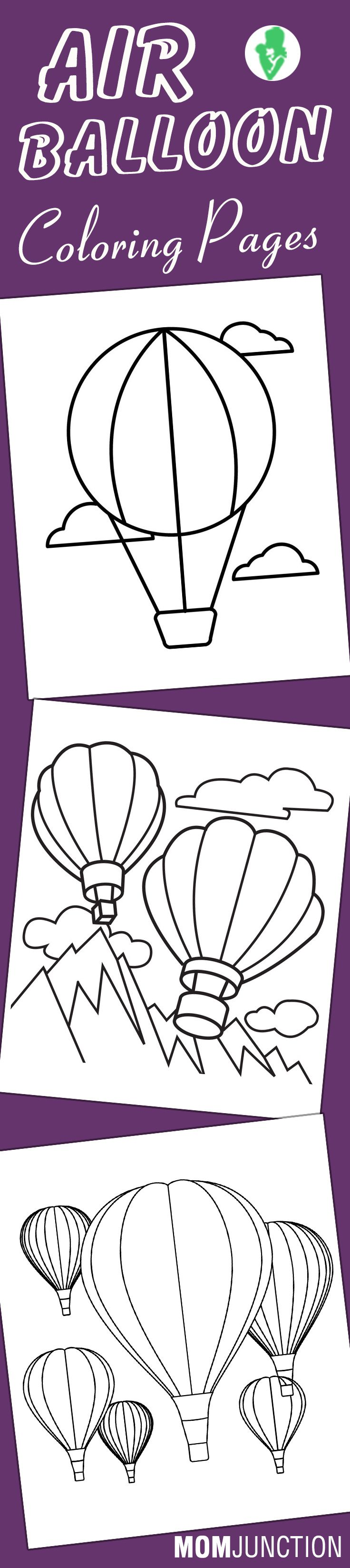 Printable coloring pages hot air balloons - Hot Air Balloon Coloring Pages Free Printables