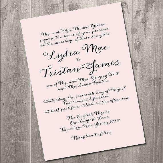 86 best Wedding Invitations images on Pinterest Free printable - best of invitation english