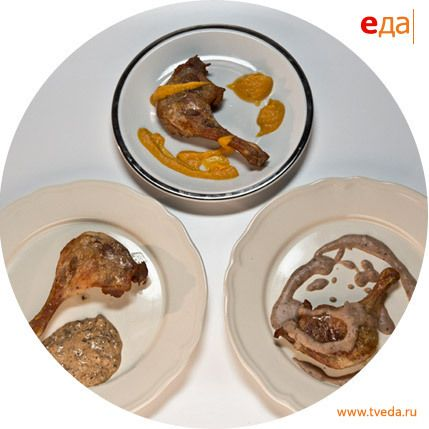 Соусы к утиным ножкам. Рецепт: http://www.tveda.ru/recepty/sousy-k-utinym-nozhkam/