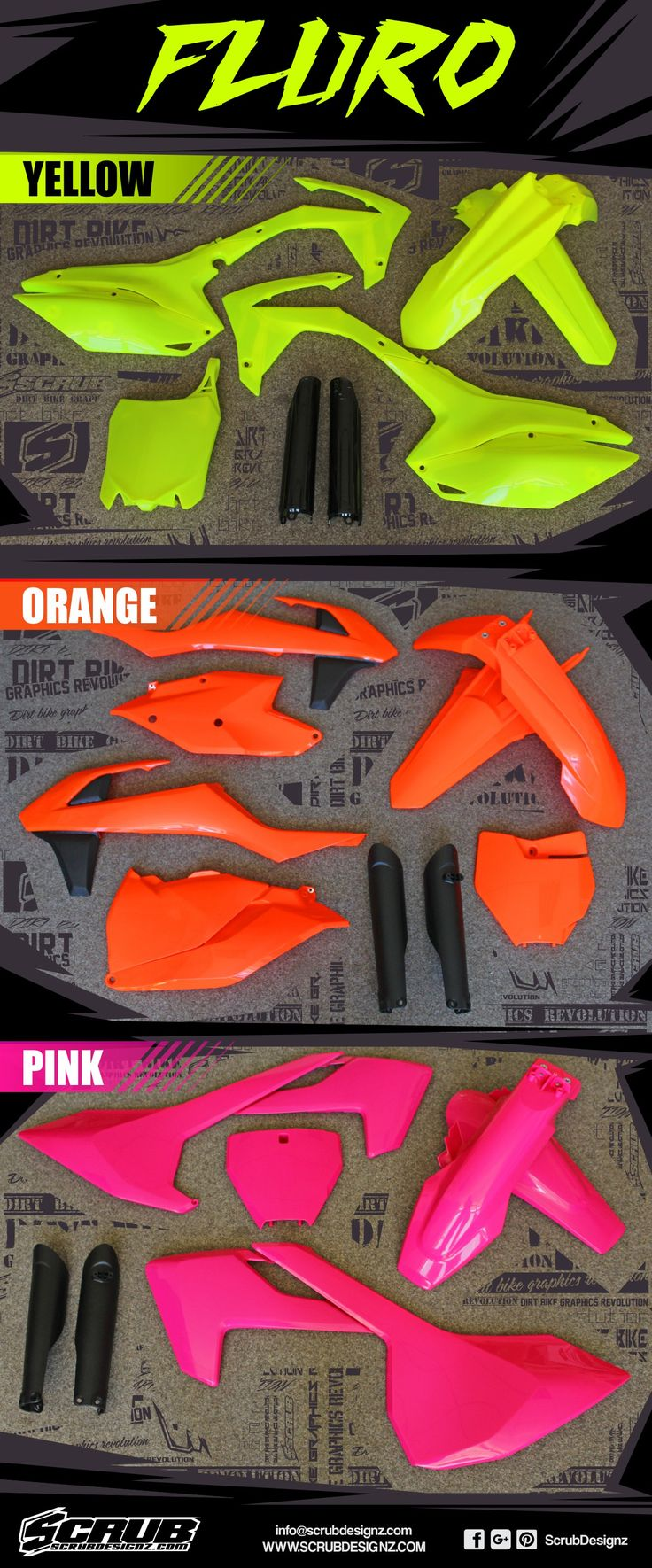 Have you ever heard about fluorescent / neon dirt bike graphics and plastics? It…