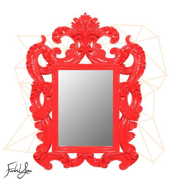 Sophia Mirror Red.  www.funkyou.com.au