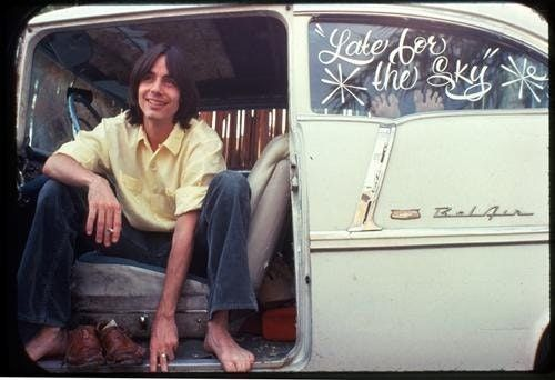 Jackson Browne and a vintage Chevy Bel-Air (70's) : OldSchoolCool