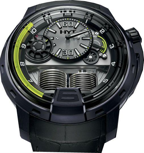 148-VG-10-GF-RA HYT H1 Velvet Gun - швейцарские мужские часы наручные, титановые, серые