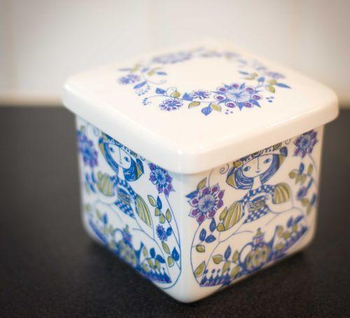 Figgjo-Lotte-Lidded-Box-or-Marmalade-Jar-RARE-Turi-Design