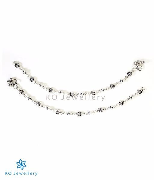 The Rose Silver Anklets