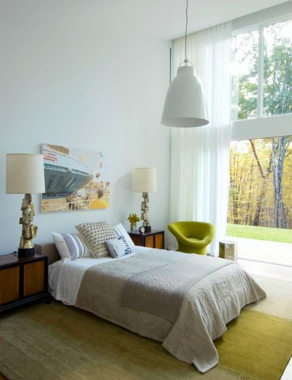 Одиночная спальня по фен шуй - фото кровати